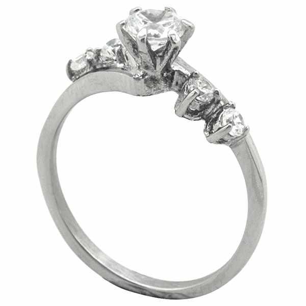 Joyas de acero quirurgico por mayor, anillos. anillo solitario moderno diseño y cirones a los costa-Joyas de Acero-Anillos-RA0785