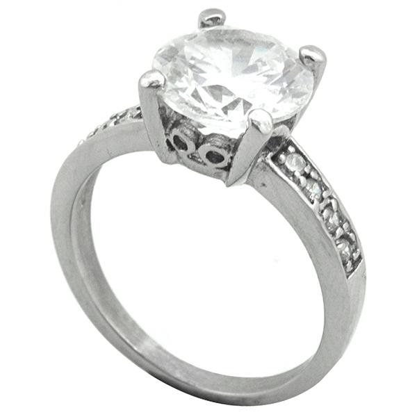 Joyas de acero quirurgico por mayor, Anillo, anillo acero diseño solitario-Joyas de Acero-Anillos-RA0787