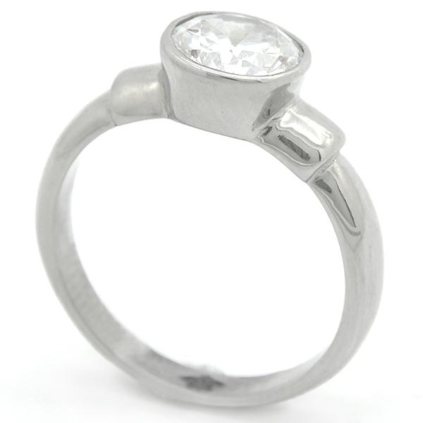 Joyas de acero quirurgico por mayor, Anillo, anillo acero tipo solitario-Joyas de Acero-Anillos-RA0795