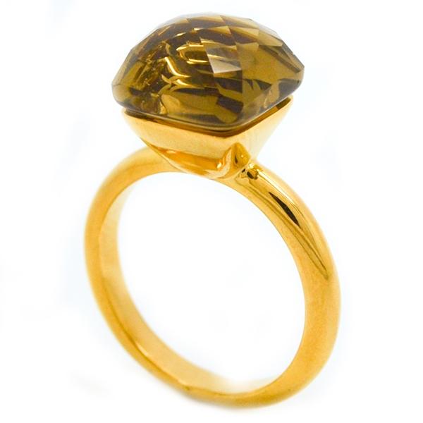 diseño clásico esmaltado dorado con cristal facetado 8-Súper Ofertas-LIQUIDACIÓN -RA0799