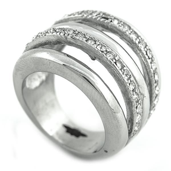 Joyas de acero quirúrgico por mayor, Anillos, anillo acero y circones, diseño vanguardista-Súper Ofertas-INTERNET-RA0811