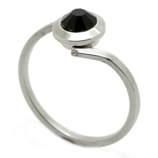 Joyas de acero quirúrgico por mayor, Anillos, diseño clasico con cristal de 1 cm facetado morado-Joyas de Acero-Anillos-RA0825