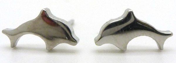 Joyas de acero quirurgico por mayor, Aros. Aros delfin de 5mm con tornillo-Joyas de Acero-Aros-EA0510