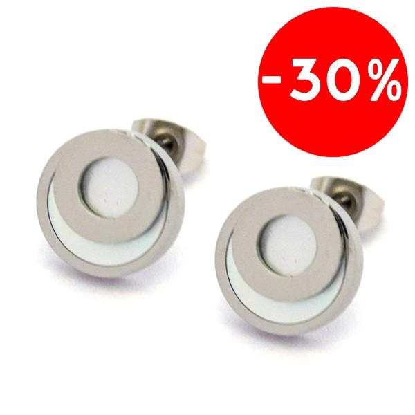 Joyas de acero quirurgico por mayor, Aros. Aros circulares, de 14mm de diámetro-Joyas de Acero-Aros-EA0725