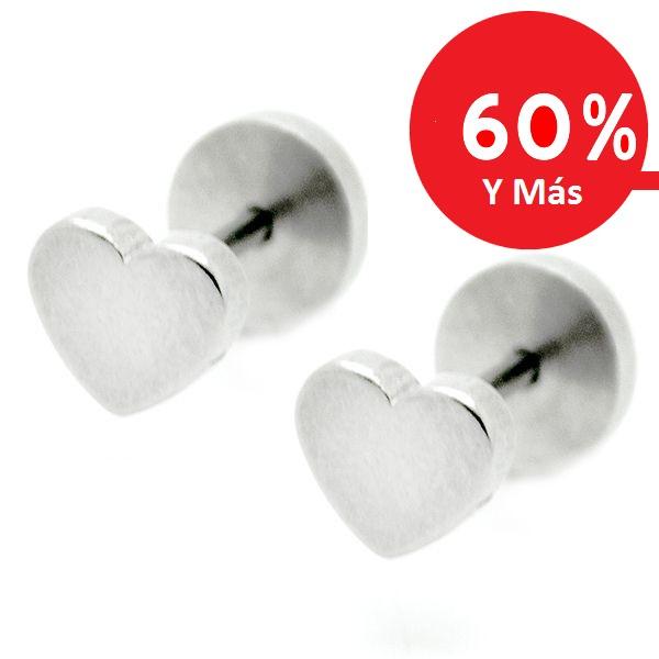 Joyas de acero quirúrgico por mayor, aros aro de niñita con tornillo de tope, tamaño 5 mm-Joyas de Acero-Aros-EA0814