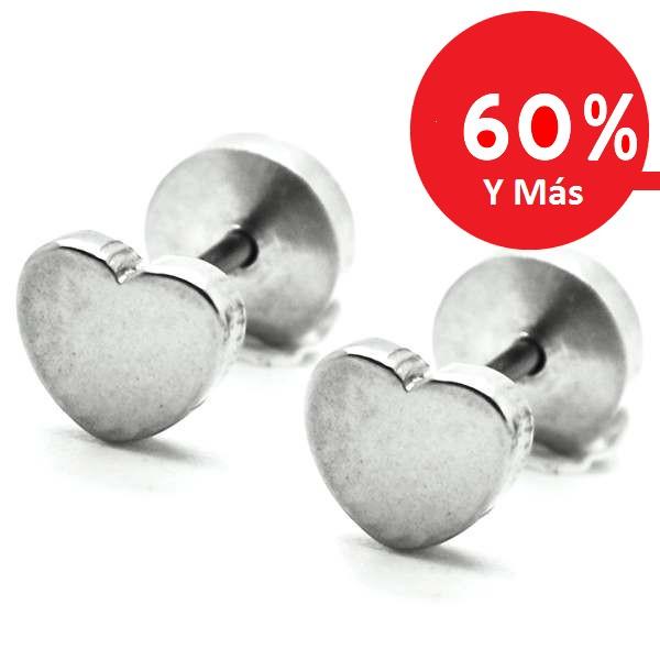 Joyas de acero quirúrgico por mayor, aros aro de niñita con tornillo de tope, tamaño 5 mm-Joyas de Acero-Aros-EA0822