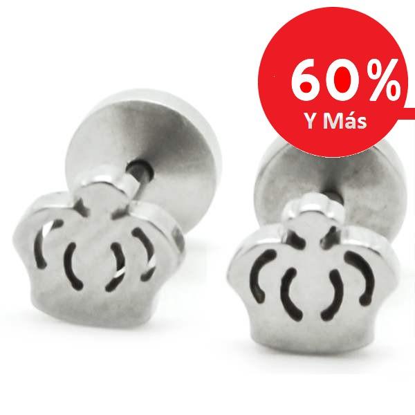Joyas de acero quirúrgico por mayor, aros aro de niñita con tornillo de tope, tamaño 5 mm-Joyas de Acero-Aros-EA0824L