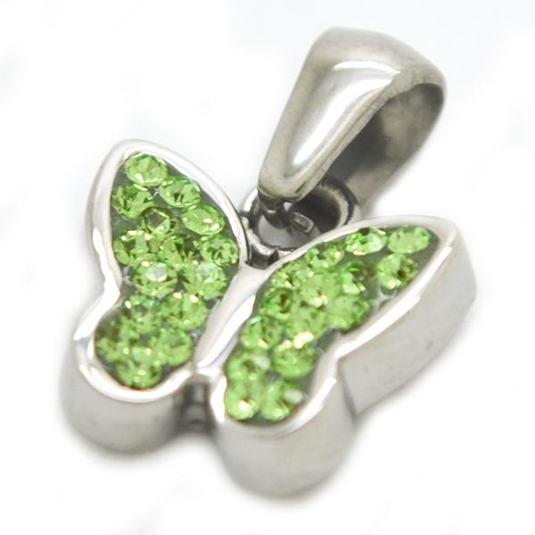 diseño juvenil y cristales incrustados, largo 2,3 cm-Joyas de Acero-Colgantes-PA0323VL