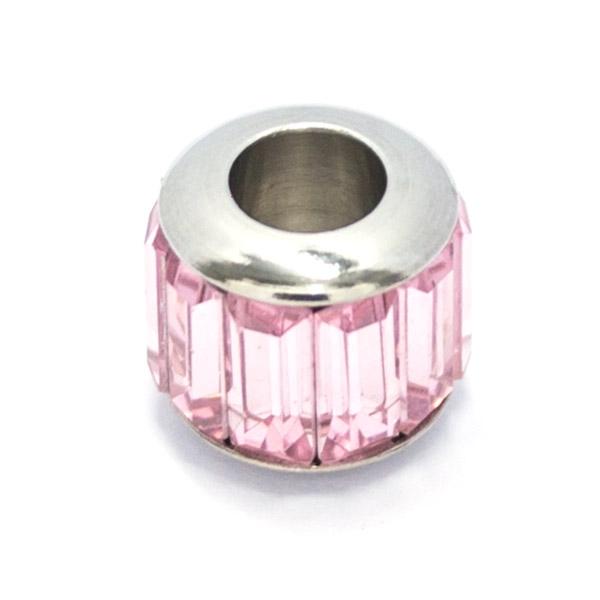 si te gusta el rosa este diseño te encantara, tamaño 1 cm-Joyas de Acero-Colgantes-PA0339P