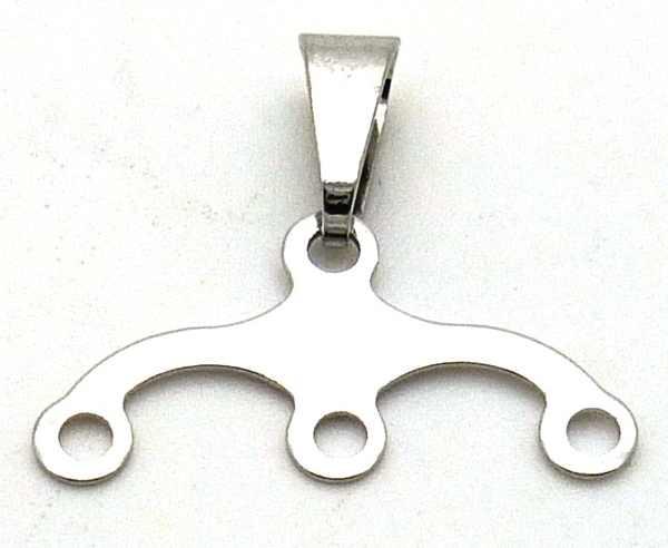 Joyas de acero quirurgico por mayor, colgante. colgante acero (sirve para poner tres niños)-Joyas de Acero-Colgantes-PA1000