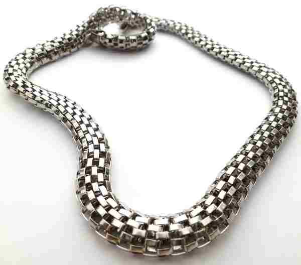 Joyas de acero quirurgico por mayor, cadenas y collares. Cadena eslabones trenzados planos de 8mm,l-Joyas de Acero-Collares-NA0018