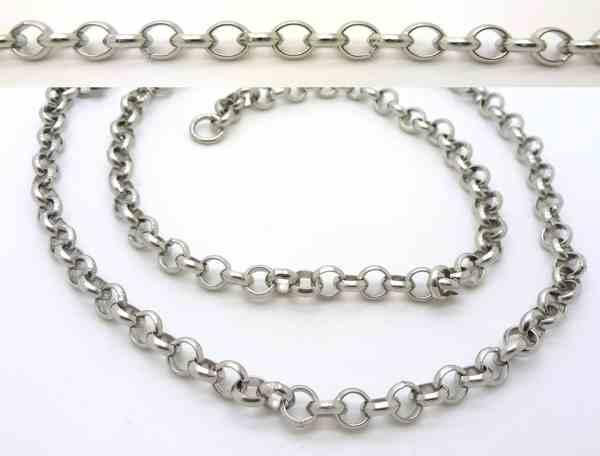 Joyas de acero quirurgico por mayor, cadenas y collares. Cadena, eslabón circular, largo 45 cm-Joyas de Acero-Collares-NA0072