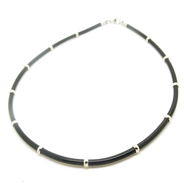 Joyas de acero quirúrgico por mayor, moderno collar de caucho-Joyas de Acero-Collares-NA0113L