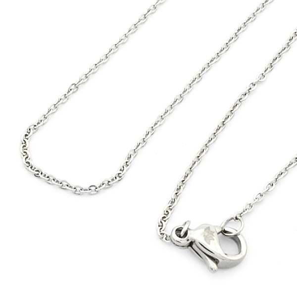 Joyas de acero quirúrgico por mayor, delicada cadena de acero dorado de 50 cm-Joyas de Acero-Cadenas-NA0140