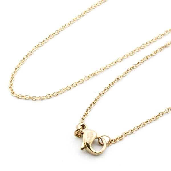 Joyas de acero quirúrgico por mayor, delicada cadena color dorado de 45 cm-Joyas de Acero-Cadenas-NA0140D