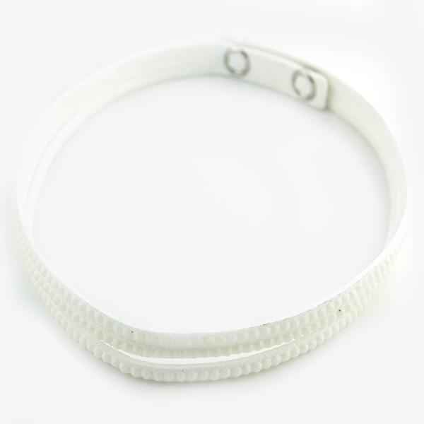 Joyas de acero quirúrgico por mayor, Pulseras, pulsera envolvente con líneas de circones-Joyas de Acero-Pulseras-BA0210BBL