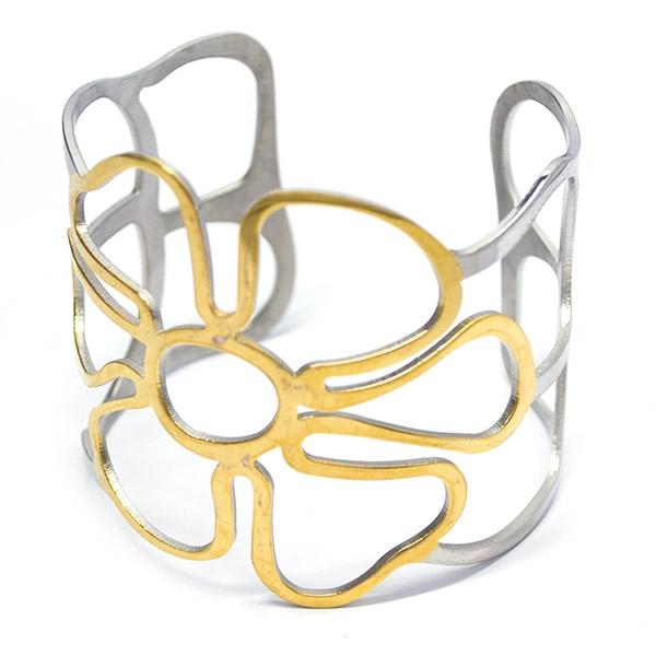 si eres atrevida este diseño es para ti, diámetro 6,5cm-Joyas de Acero-Pulseras-BA0261
