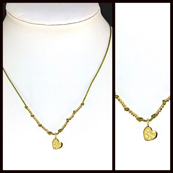 Collares-  Joyas Bañadas en oro Hechas a mano, hilo macramé colores con nudo deslizante de ajuste. A-Joyas Banadas-Collares-NE0160