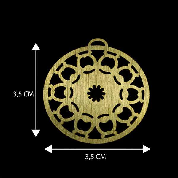 - Bañada en Oro. Valor Unitario, dimesiones en foto, espesor 1 mm aprox-Insumos -Piezas Exclusivas-P96O