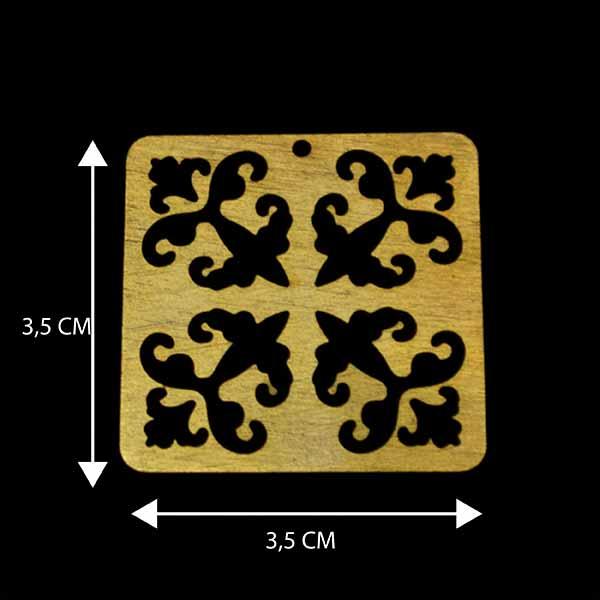 - Bañada en Oro. Valor Unitario, dimesiones en foto, espesor 1 mm aprox-Insumos -Piezas Exclusivas-P97O
