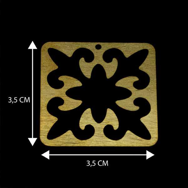 - Bañada en Oro. Valor Unitario, dimesiones en foto, espesor 1 mm aprox-Insumos -Piezas Exclusivas-P98O