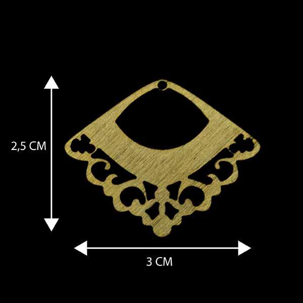 - Bañada en Oro. Valor Unitario, dimesiones en foto, espesor 1 mm aprox-Insumos -Piezas Exclusivas-P99O