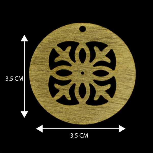 - Bañada en Oro. Valor Unitario, dimesiones en foto, espesor 1 mm aprox-Insumos -Piezas Exclusivas-P9O