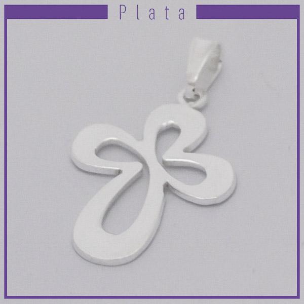 Colgantes-Joyas de Plata 925 por mayor , colgante de plata en forma de cruz calada este mide 3,5 cm aprox -Joyas de Plata-Colgantes-PP0015