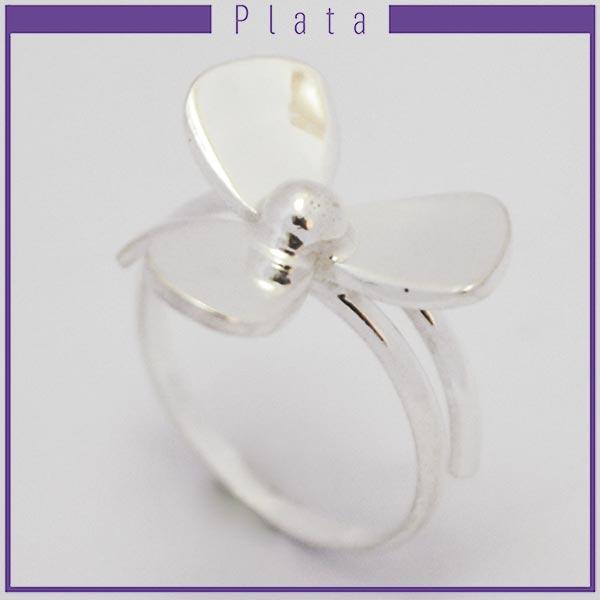 Joyas de Plata 925 por mayor ,delicado anillo midi, pensado para que lo uses el la falange con 3 pét-Joyas de Plata-Anillos-RP0023M