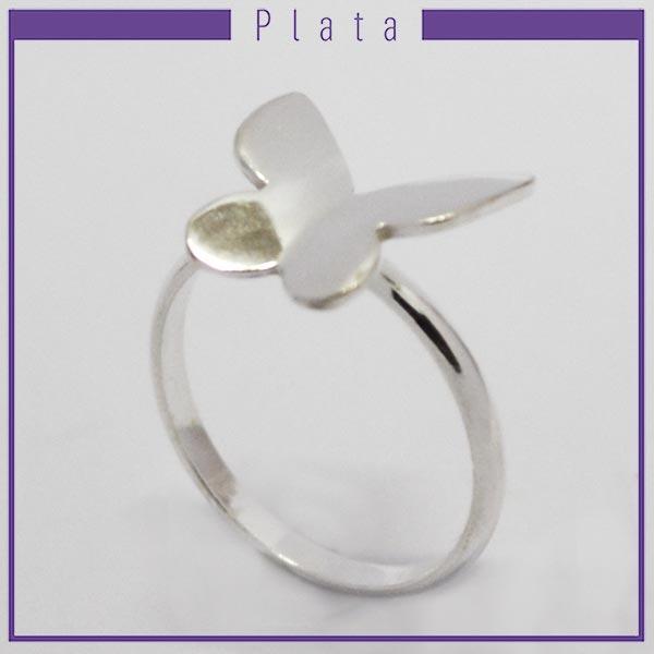 Joyas de Plata 925 por mayor , anillo de plata en forma de mariposa -Joyas de Plata-Anillos-RP0027