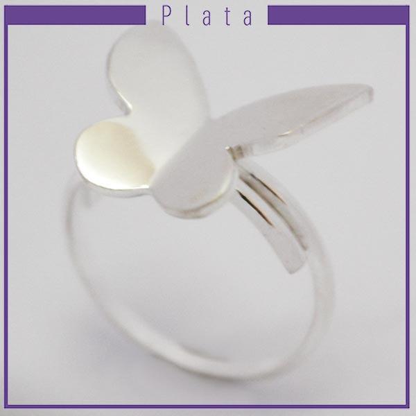 Joyas de Plata 925 por mayor ,delicado anillo midi  pensado para que lo uses en la falange, adaptable con una mariposa en el centro -Joyas de Plata-Anillos-RP0027M