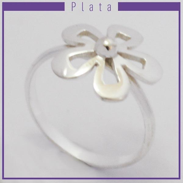 Joyas de Plata 925 por mayor , hermoso anillo de plata con forma de flor calada  -Joyas de Plata-Anillos-RP0028
